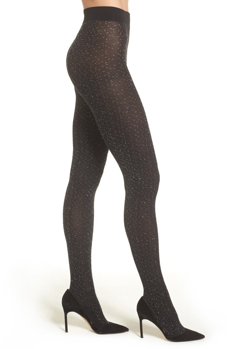 WOLFORD Metallic Tights, Main, color, 003