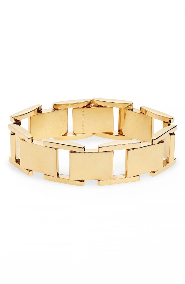 BALENCIAGA Link Bracelet, Main, color, VIBRATED GOLD