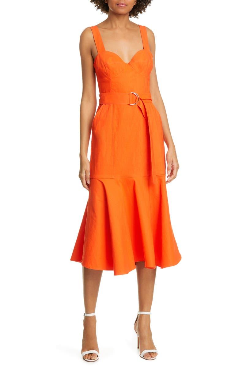 A.L.C. Sabrina Linen Blend Bustier Dress, Main, color, 800