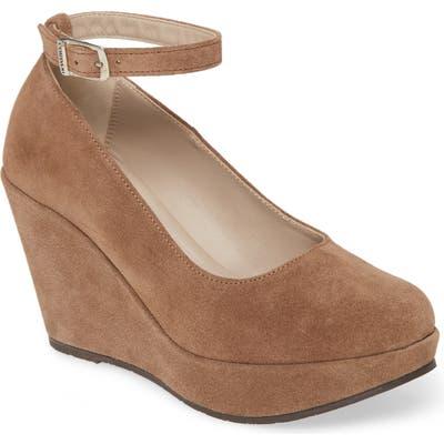 Cordani Raylene Ankle Strap Wedge Pump - Beige