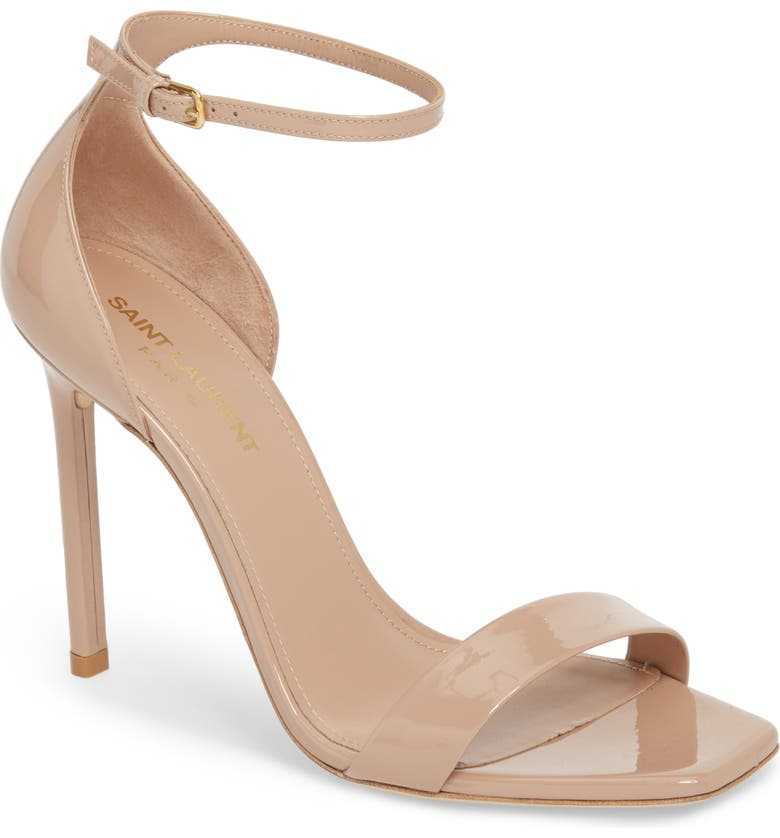 SAINT LAURENT Amber Ankle Strap Sandal, Main, color, NUDE ROSE