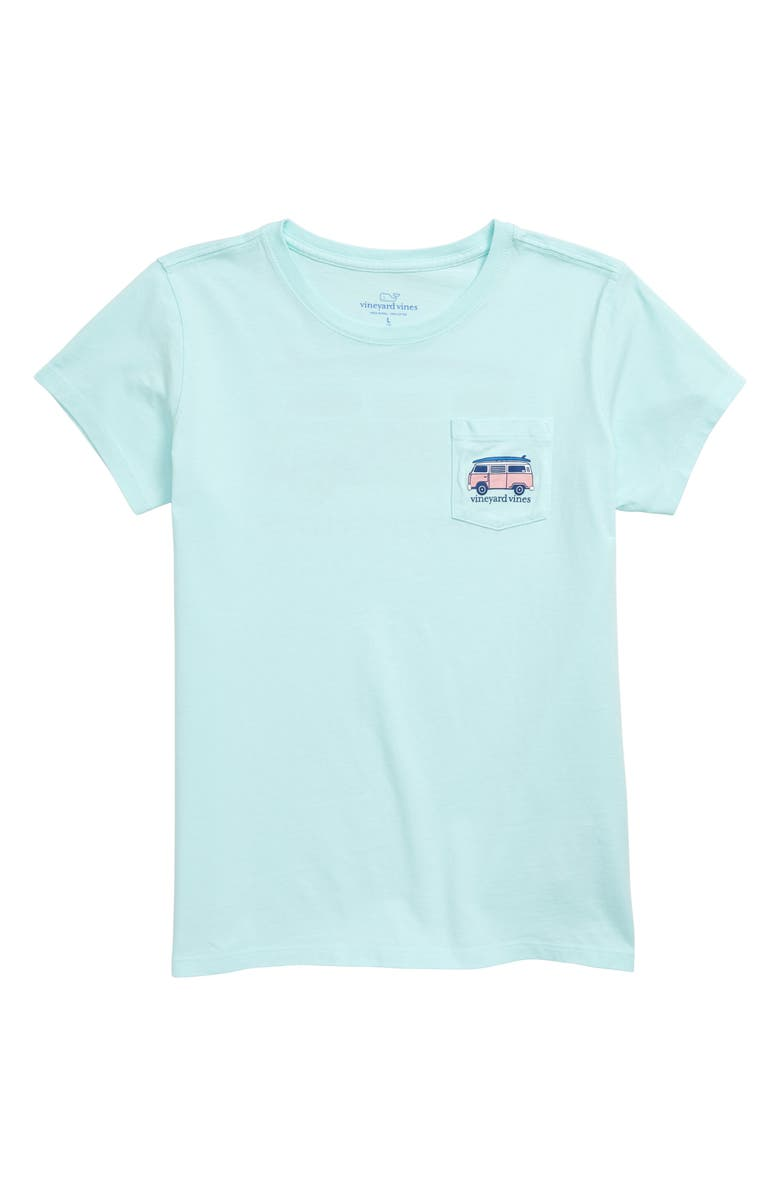 VINEYARD VINES Bus Pocket Tee, Main, color, CRYSTAL BLUE