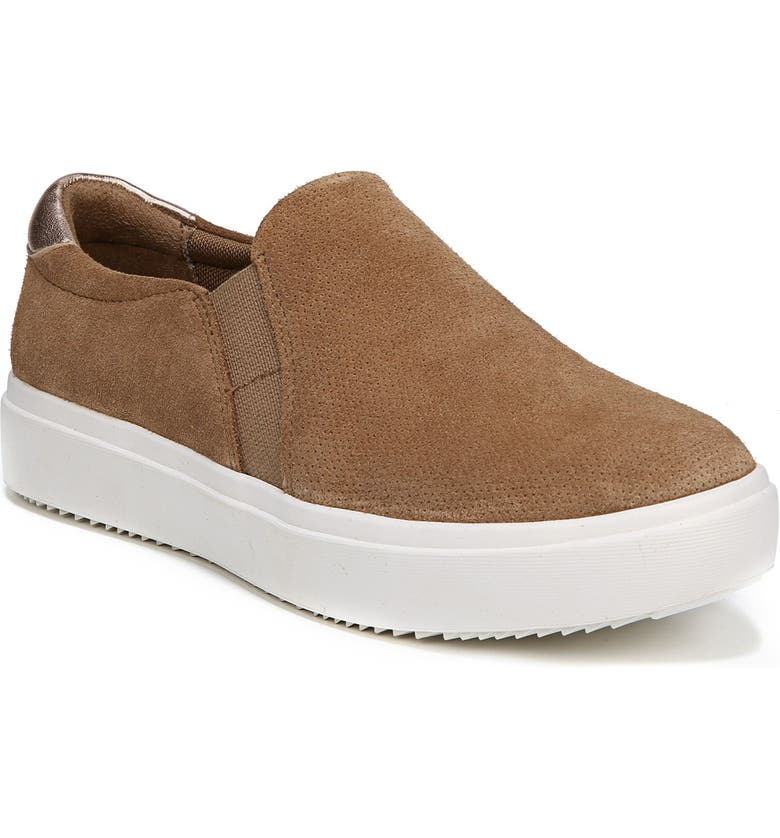 DR. SCHOLL'S Leta Slip-On Sneaker, Main, color, BROWN SUEDE