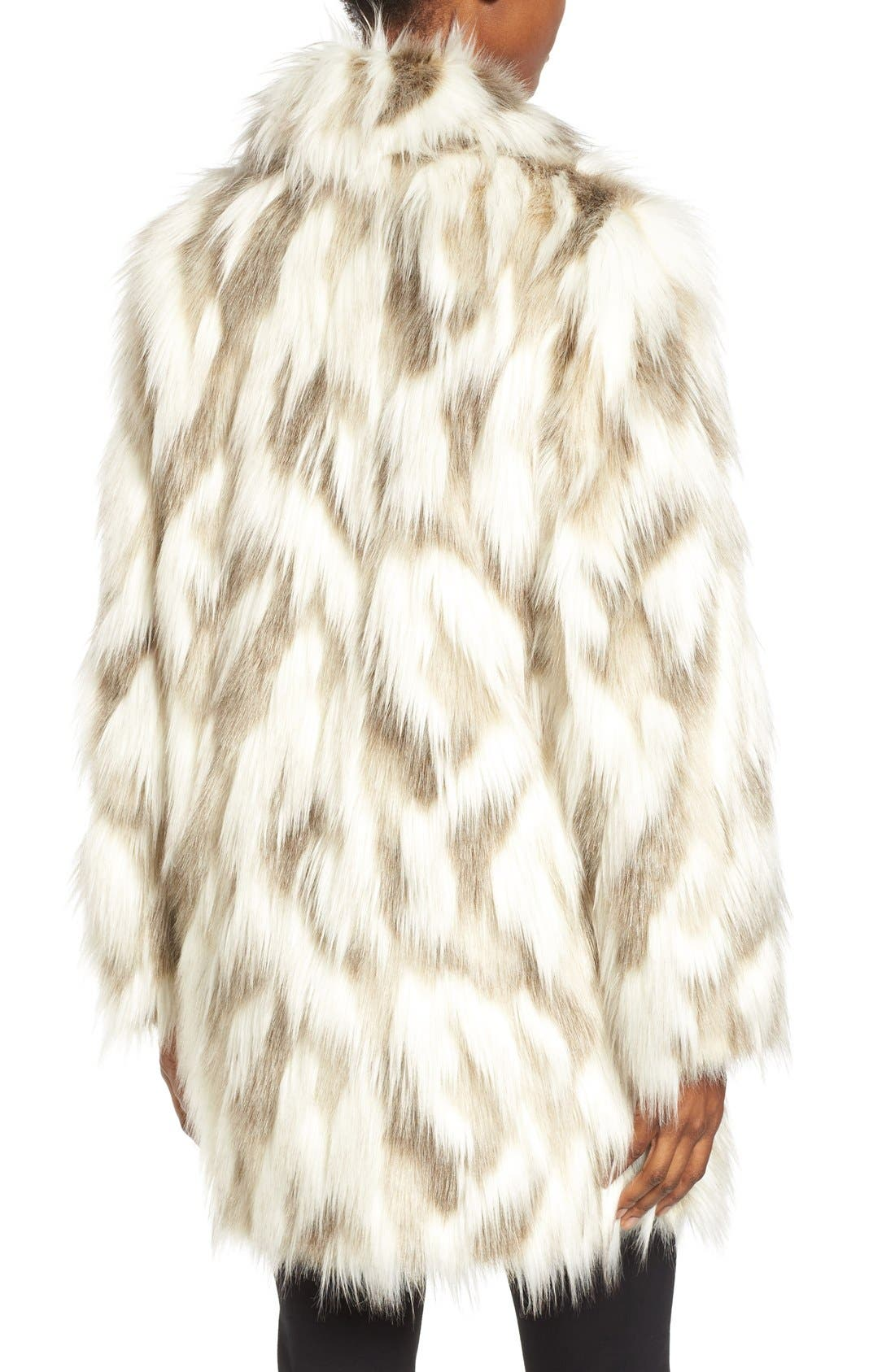 ,                             Phoebe Multicolor Faux Fur Coat,                             Alternate thumbnail 3, color,                             232