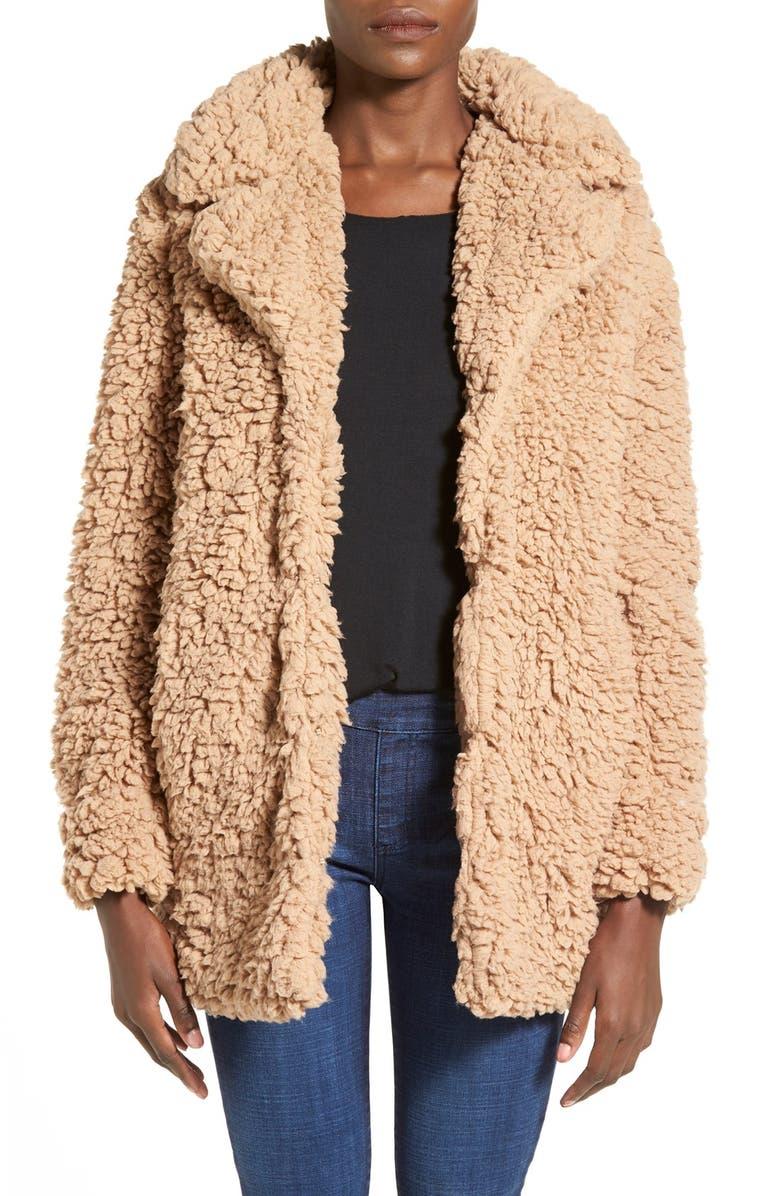 COFFEE SHOP Faux Fur Oversize Jacket, Main, color, 277