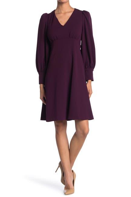 Image of Calvin Klein Puff Sleeve Empire Waist Dress