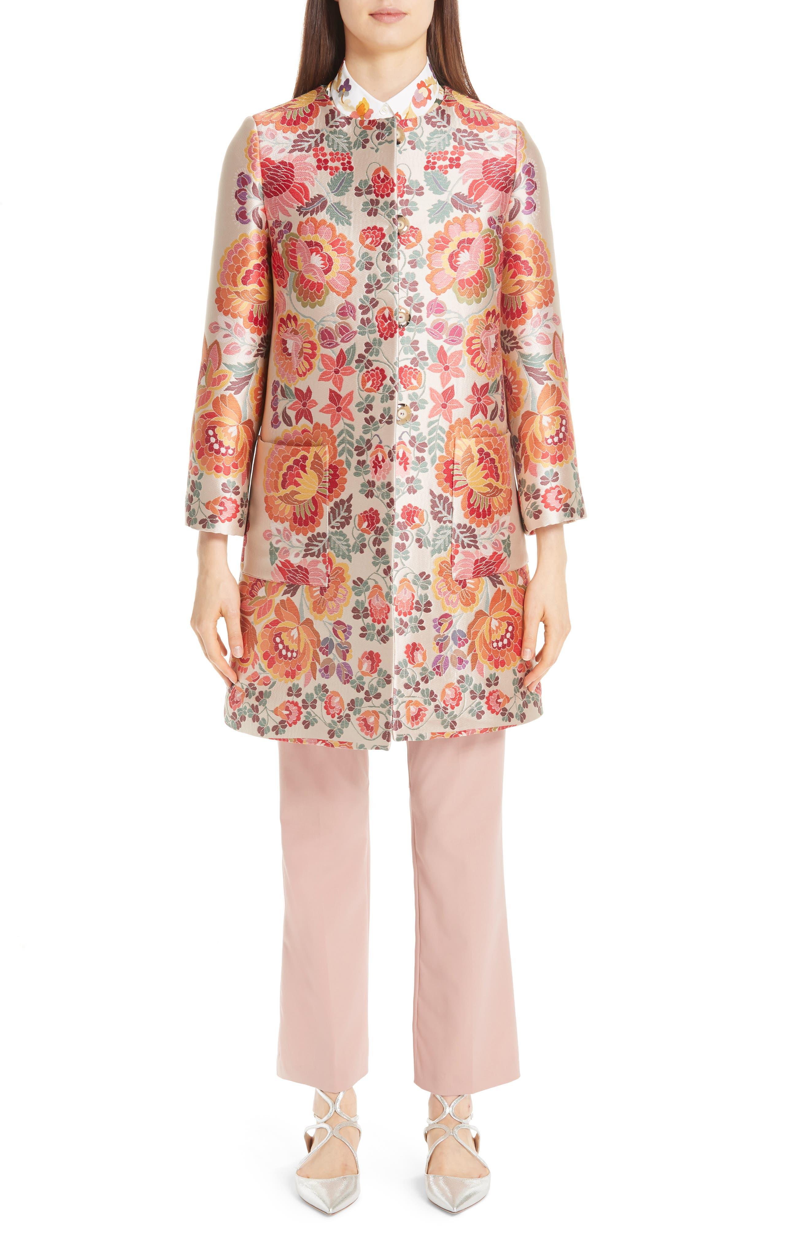 ,                             Floral Print Stretch Cotton Shirt,                             Alternate thumbnail 7, color,                             WHITE