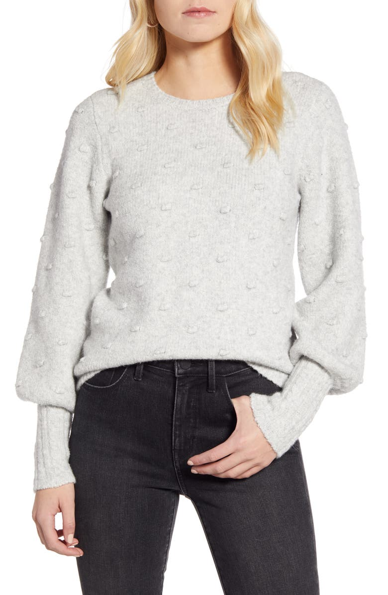 RACHEL PARCELL Rachell Parcell Bobble Stitch Sweater, Main, color, 050