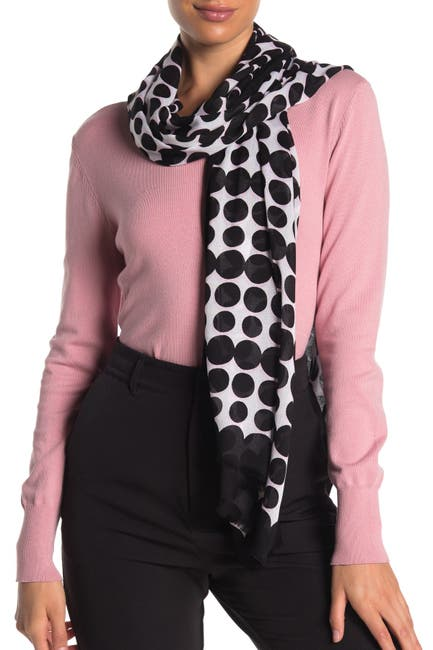Image of kate spade new york seasonless dot print oblong scarf