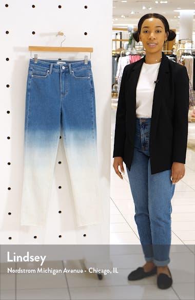 Hoxton High Waist Raw Hem Ankle Slim Jeans, sales video thumbnail