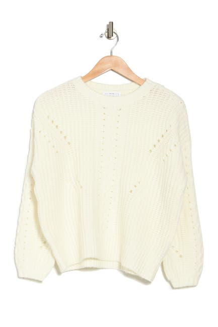 Image of FOR THE REPUBLIC Pointelle Crew Neck Sweater