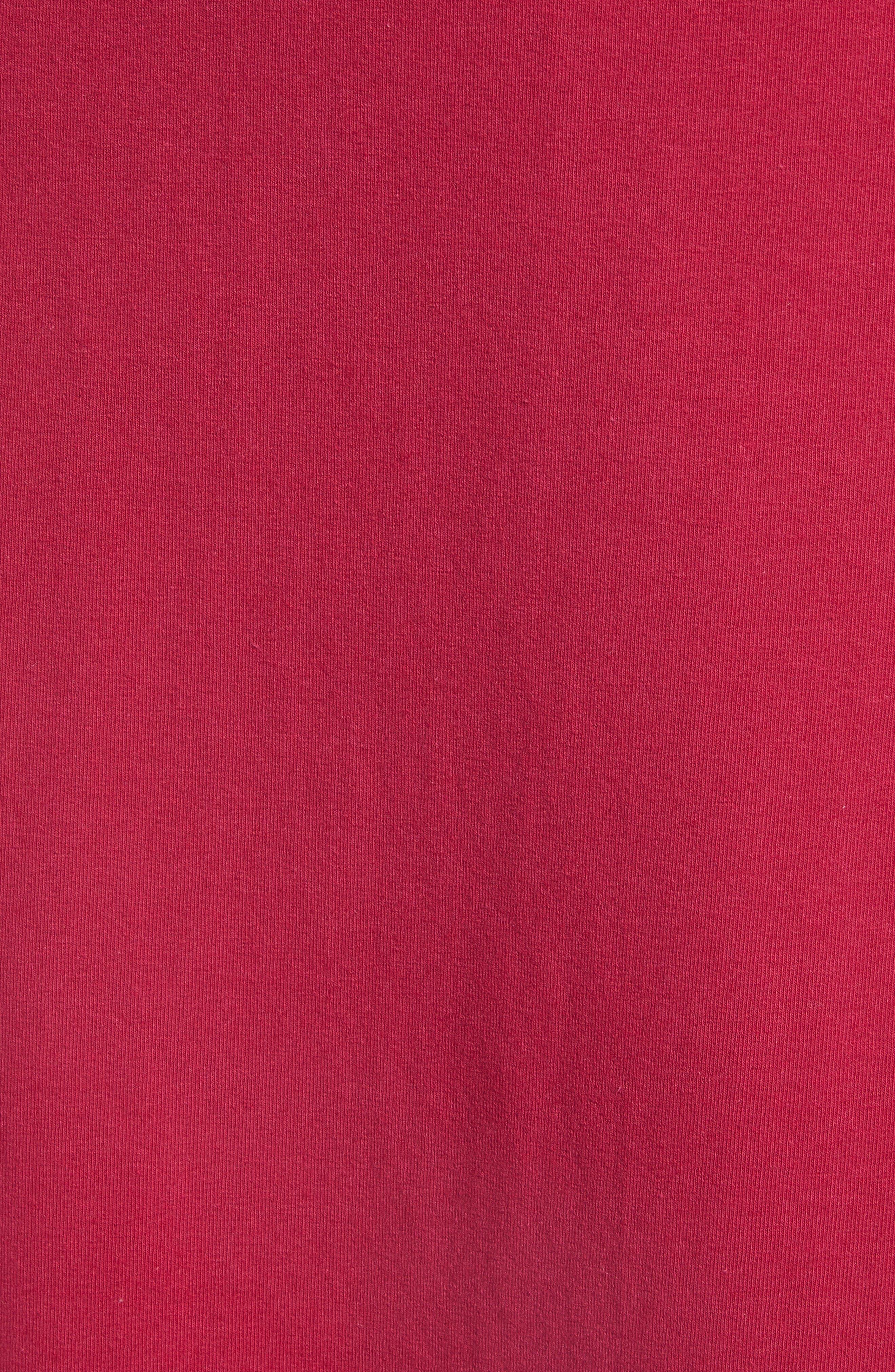 ,                             Knit Wrap Midi Sundress,                             Alternate thumbnail 6, color,                             BURGUNDY BERRY
