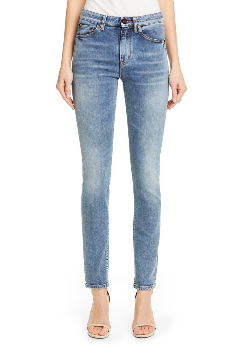 SAINT LAURENT Skinny Jeans, Main, color, 400