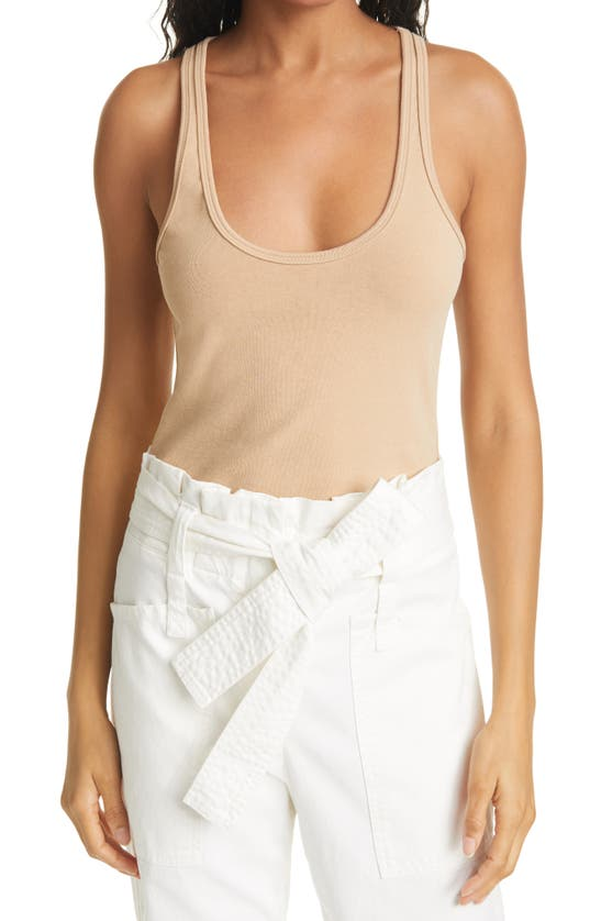 A.l.c Savanna Rib-knit Tank Top In Desert Beige