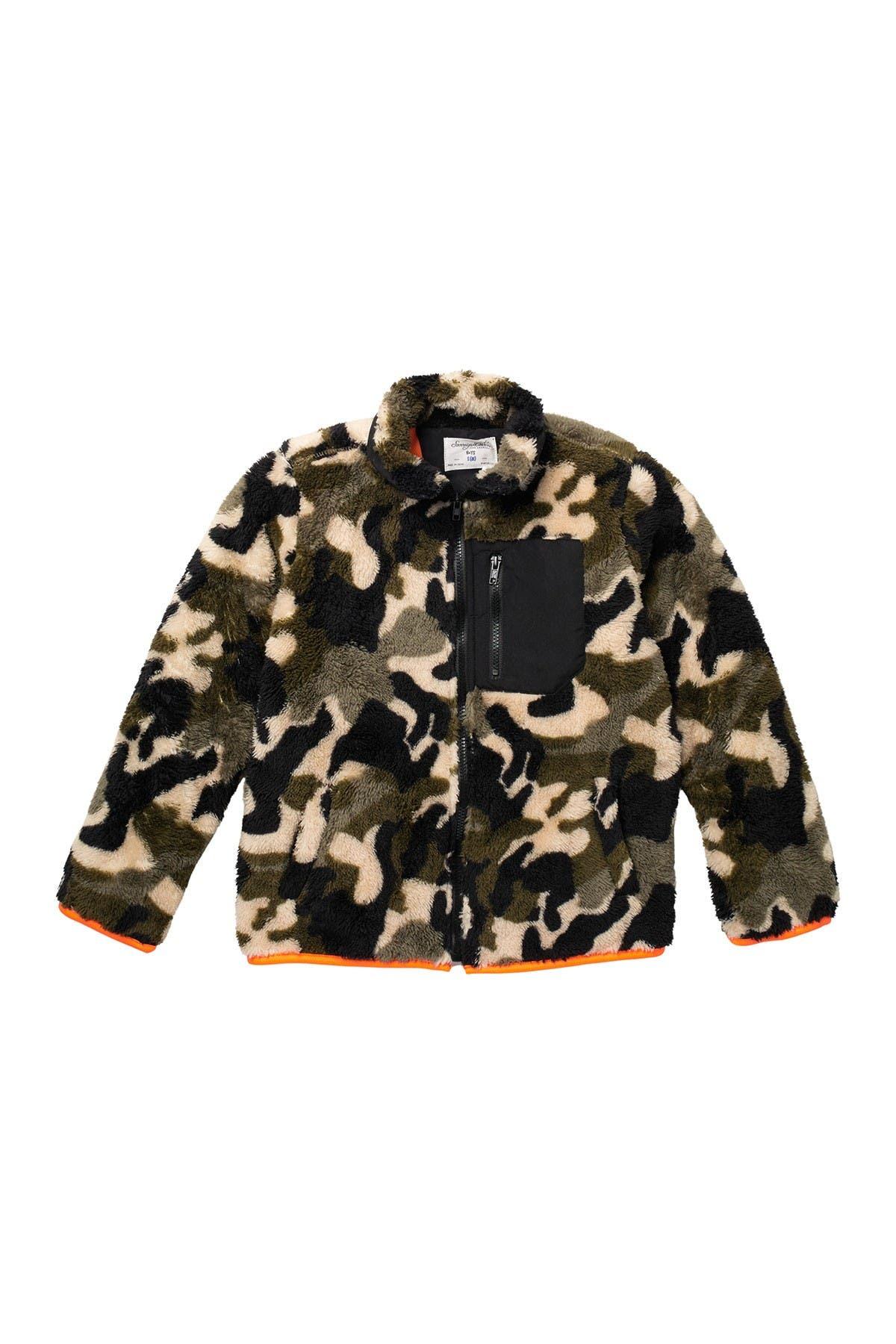 Image of Sovereign Code Himmel Camo Print Fleece Jacket