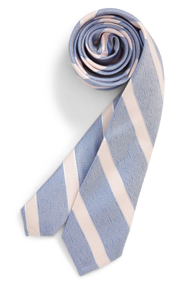NORDSTROM Anthony Stripe Silk Tie, Main, color, 400
