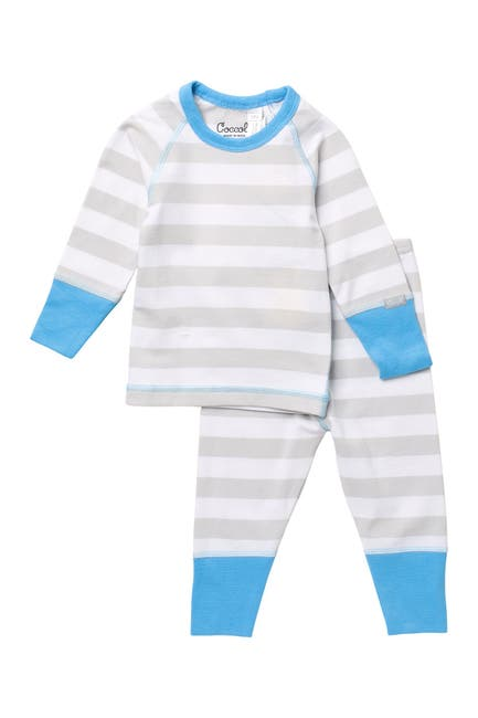 Image of Coccoli Stripe Print Top & Pants Pajama Set