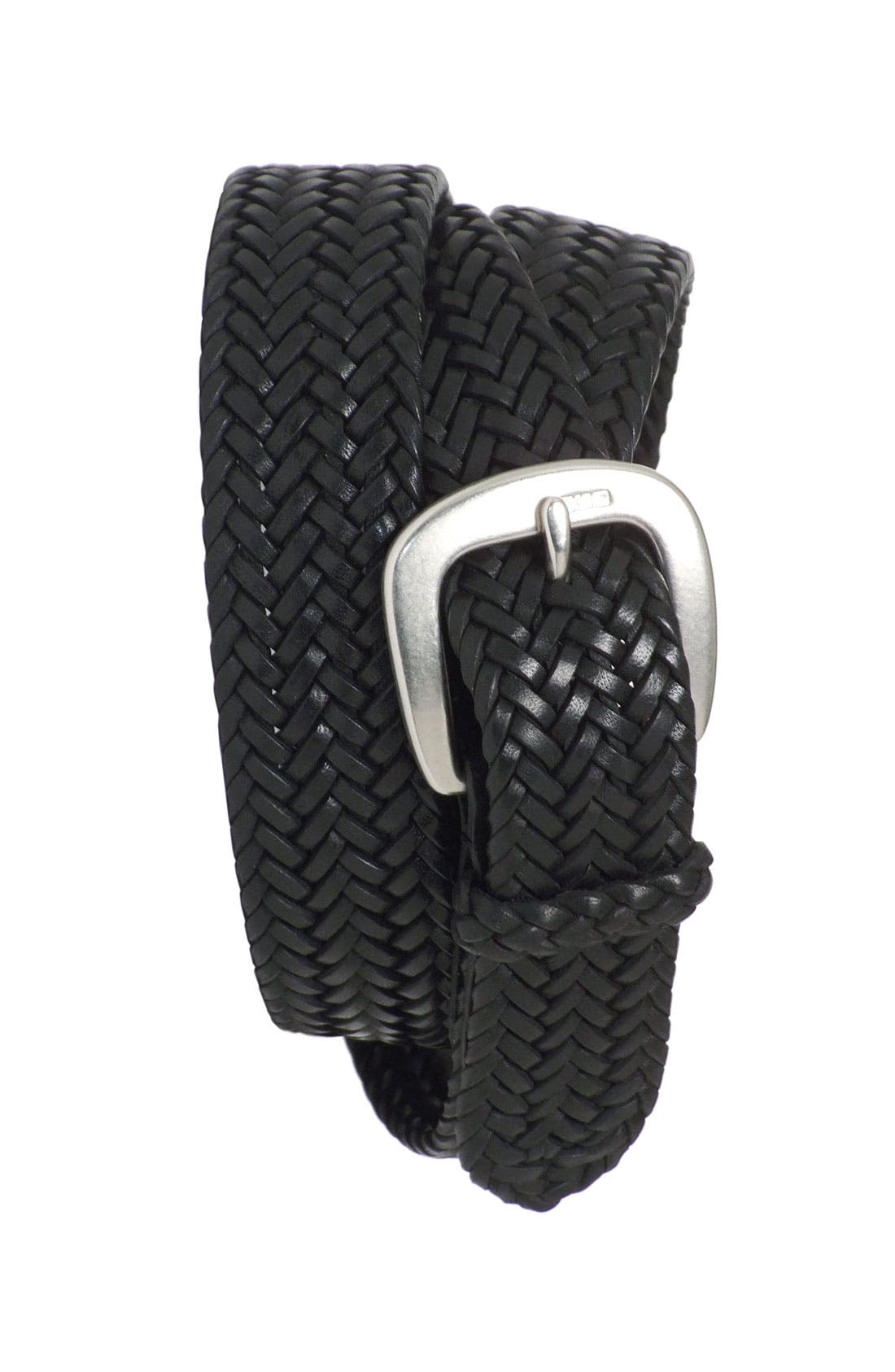 ,                             Leather Belt,                             Main thumbnail 3, color,                             001