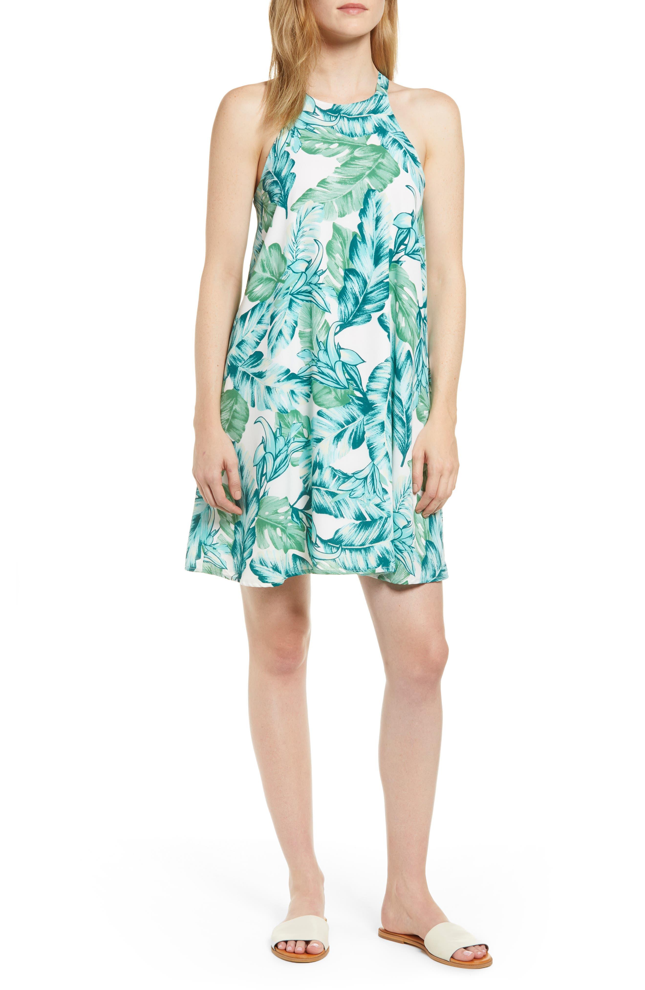 204bbd51 Naples Swing Halter Dress, White (Regular & Petite