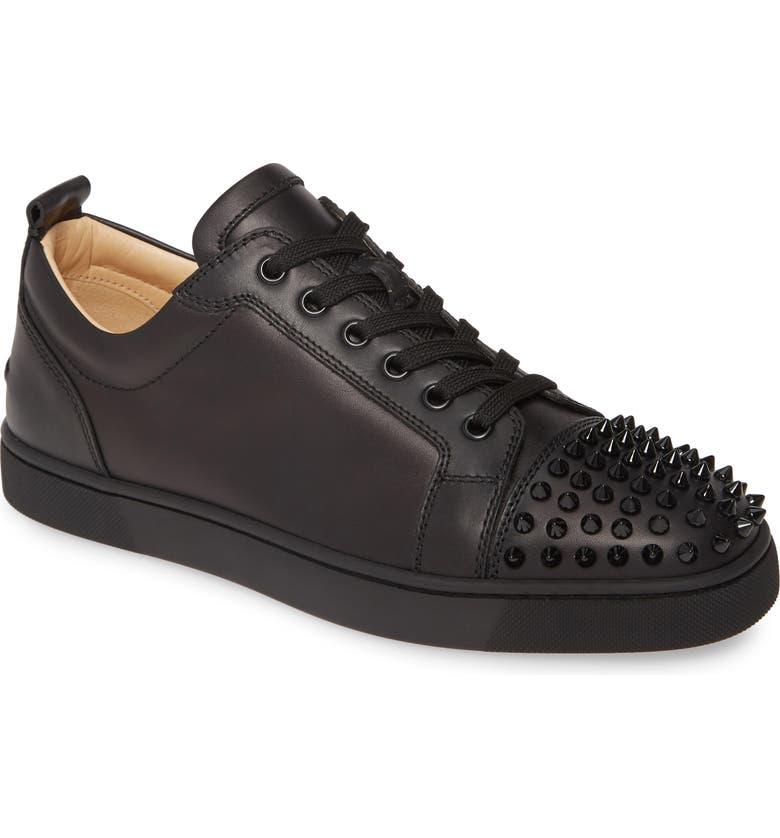 CHRISTIAN LOUBOUTIN Louis Junior Spikes Sneaker, Main, color, BLACK/ BLACK