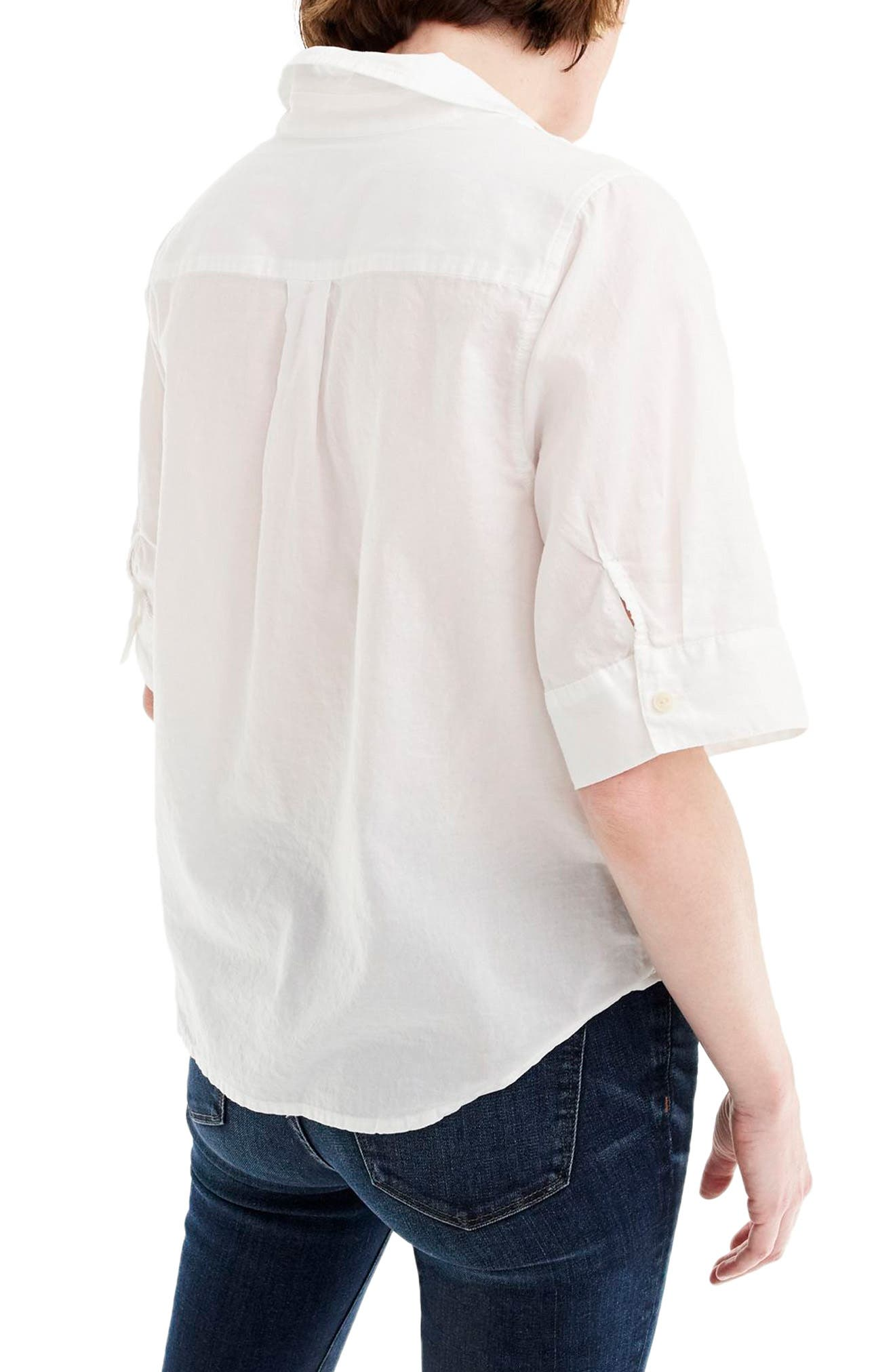 ,                             Short Sleeve Button-Up Shirt,                             Alternate thumbnail 2, color,                             100