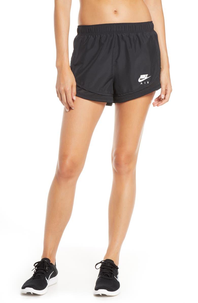 NIKE Dry Tempo Running Shorts, Main, color, BLACK/ WHITE