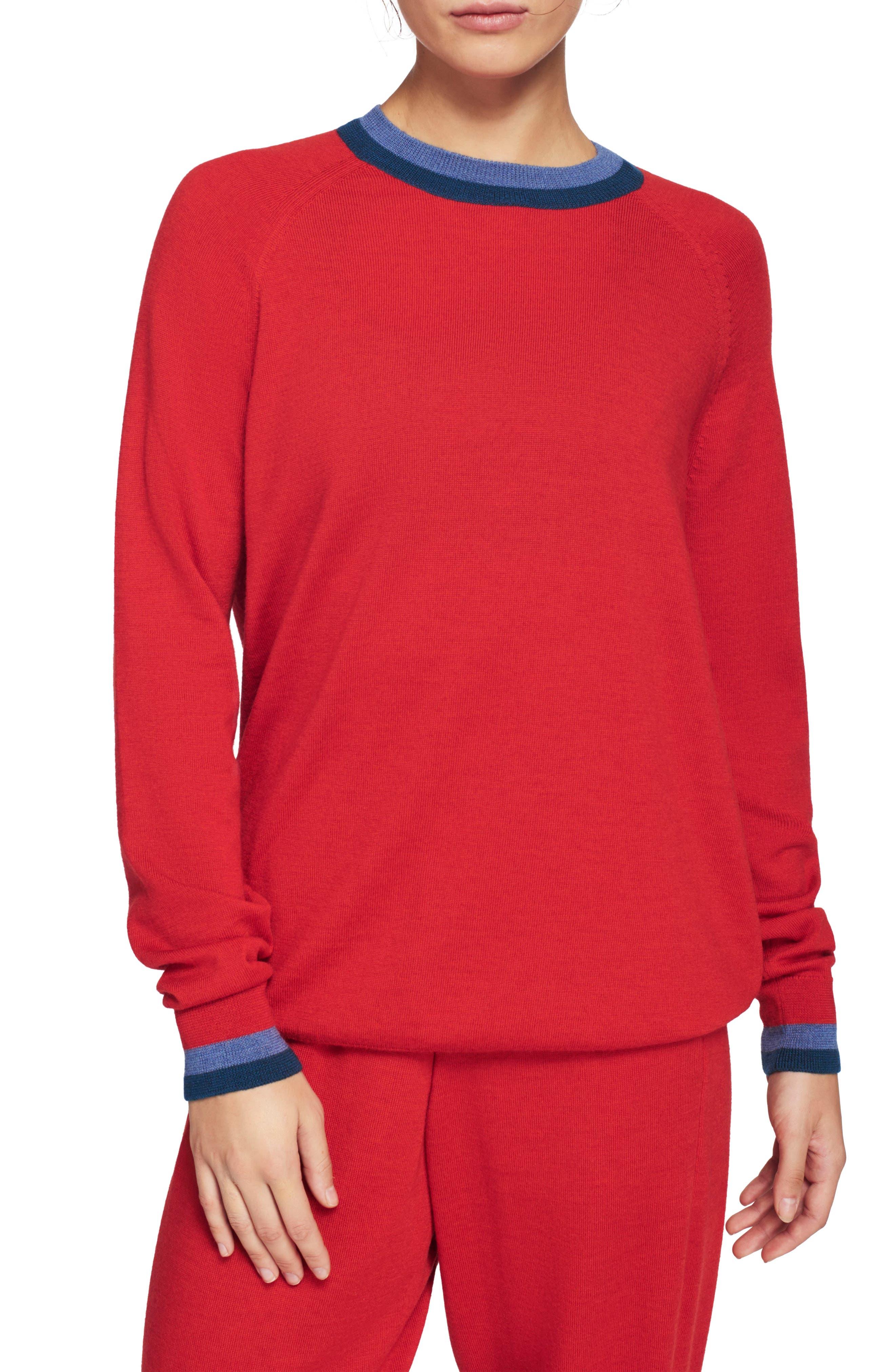 Lndr Chalet Merino Wool Sweatshirt, Red