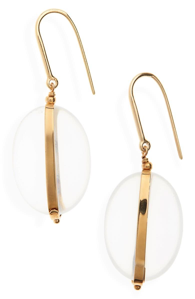 ISABEL MARANT Stone Drop Earrings, Main, color, TRANSPARENT