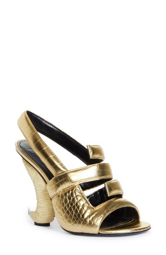 Givenchy Leathers 4G LOGO HORN SLINGBACK SANDAL
