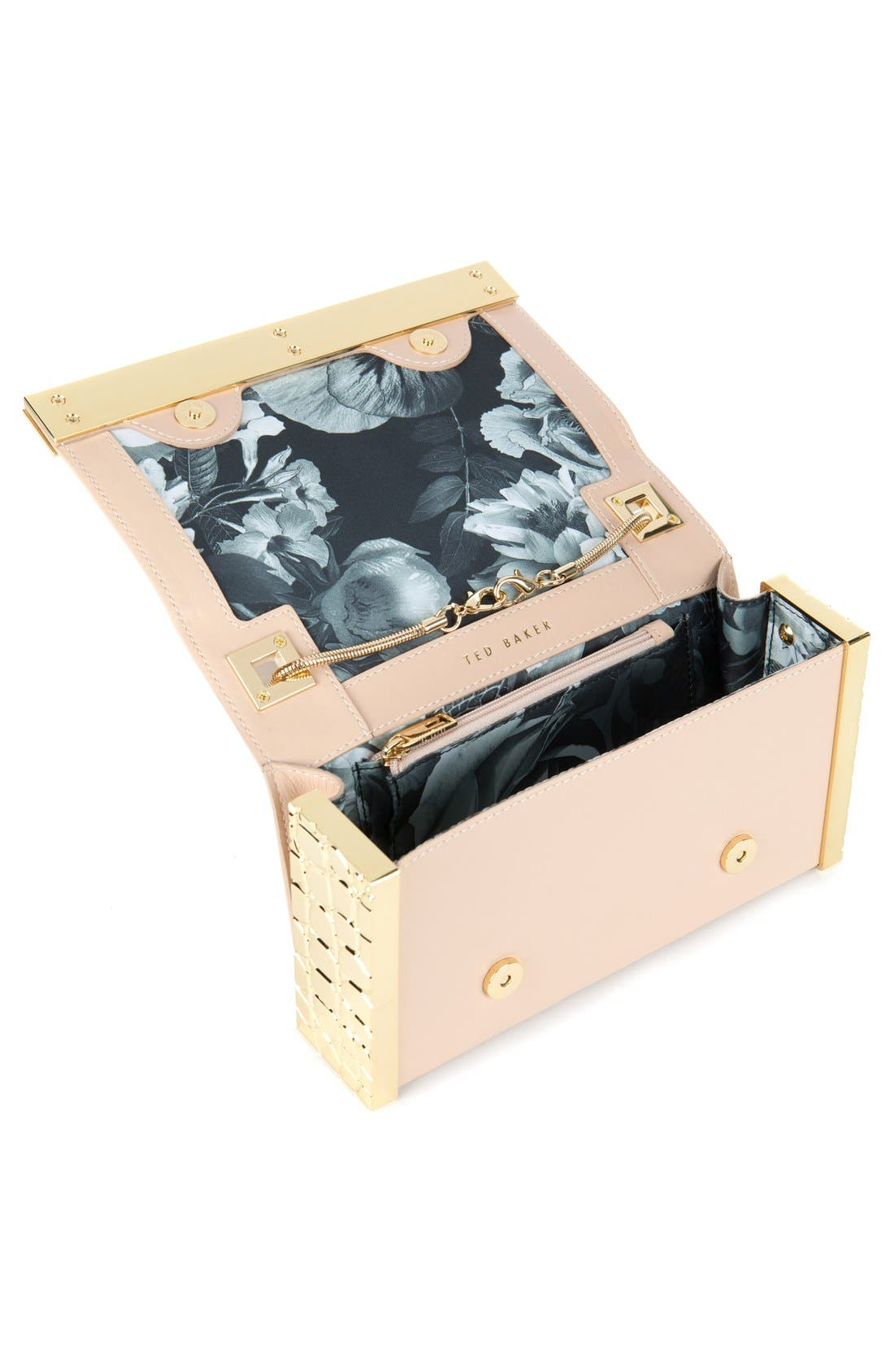 ,                             'Elise' Leather Box Clutch,                             Alternate thumbnail 2, color,                             250