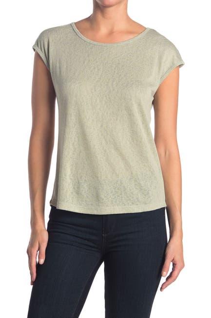 Image of Bobeau Caty Printed Cap Sleeve T-Shirt