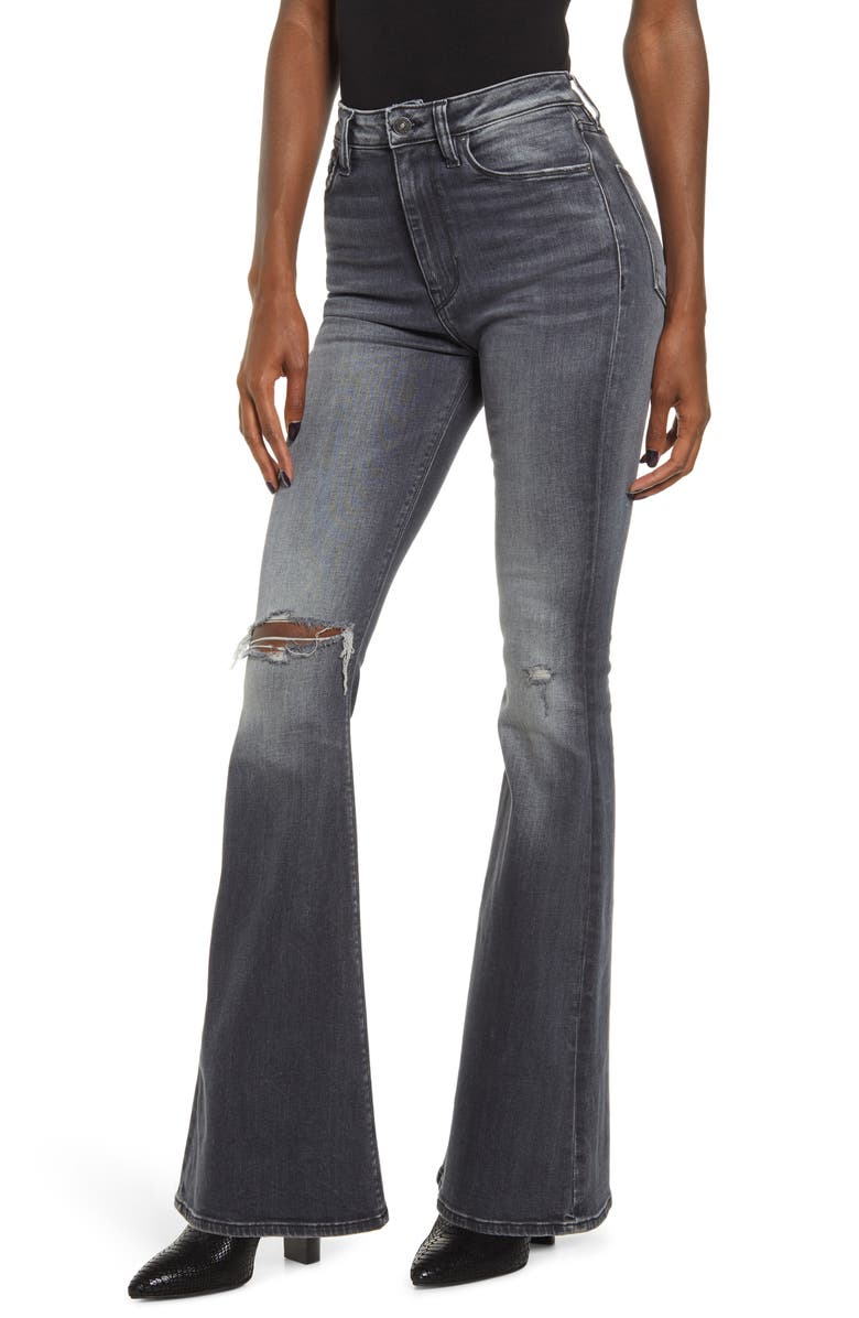 HUDSON JEANS Holly High Waist Flare Jeans, Main, color, MISSED CALL