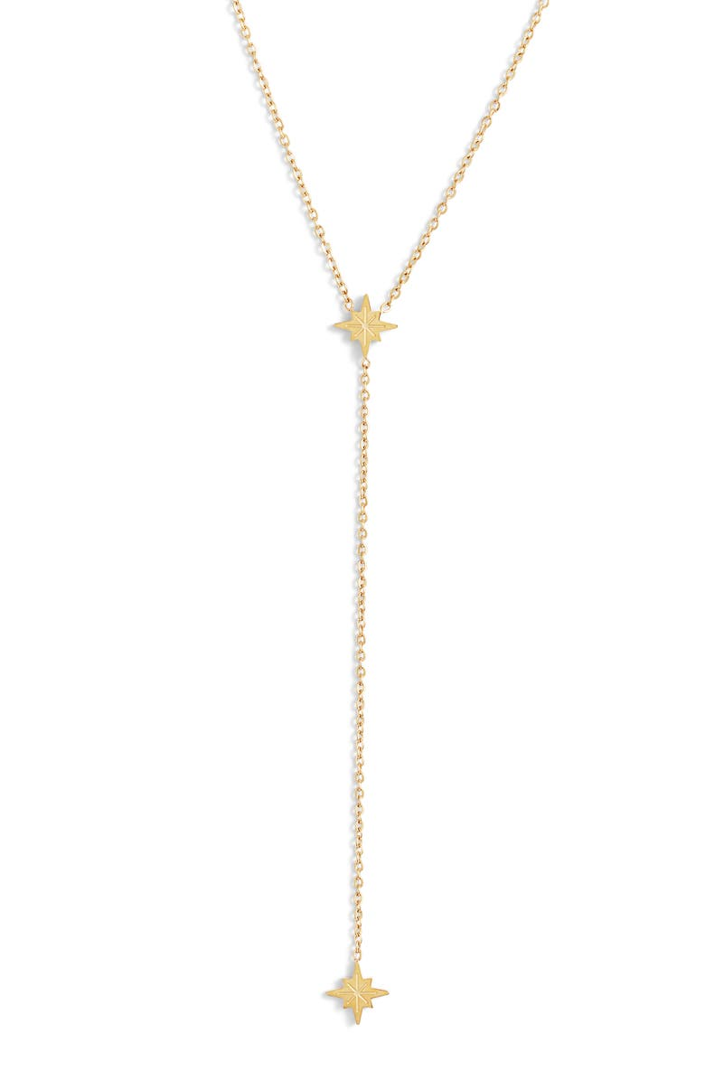 ELLIE VAIL Selena Sunburst Y-Necklace, Main, color, GOLD