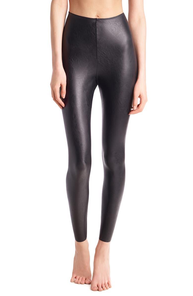 COMMANDO Perfect Control Faux Leather Leggings, Main, color, BLACK