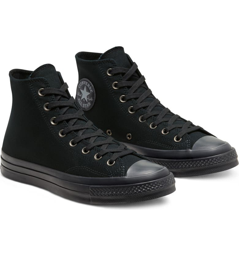 CONVERSE Chuck Taylor<sup>®</sup> All Star<sup>®</sup> 70 High Top Sneaker, Main, color, BLACK/ ALMOST BLACK/ BLACK