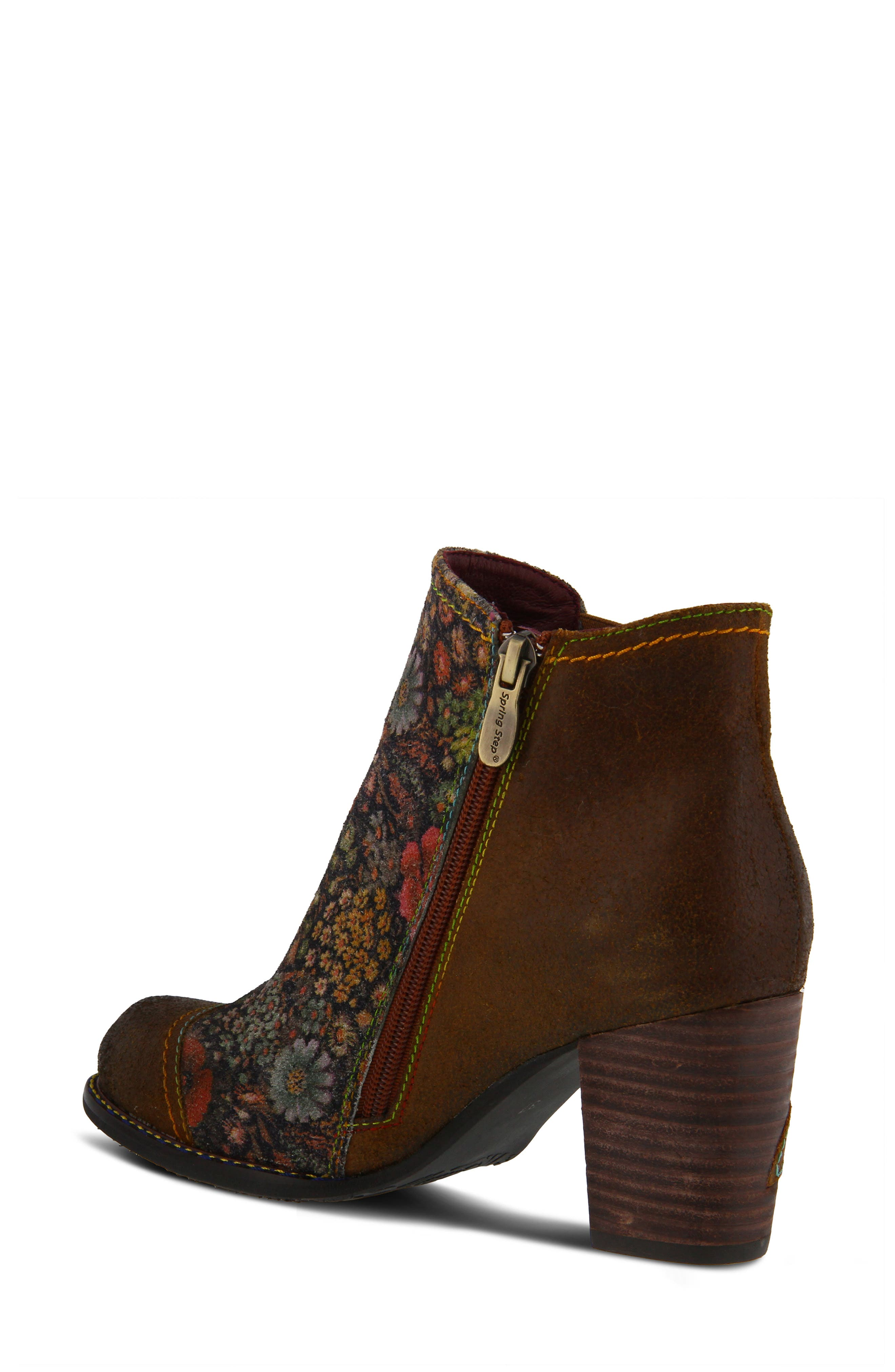 ,                             Melvina Bootie,                             Alternate thumbnail 2, color,                             BROWN MULTI LEATHER