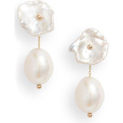 Poppy Finch Petite Pearl Convertible Drop Back Earrings