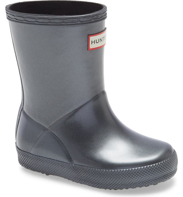 HUNTER First Classic Nebula Waterproof Rain Boot, Main, color, 001