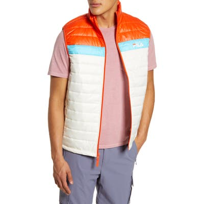 Fila Windshear Trail Puffer Vest, White