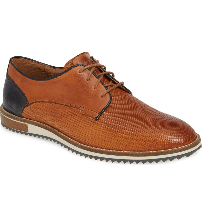 CYCLEUR DE LUXE Plus Plain Toe Derby, Main, color, COGNAC/ NAVY