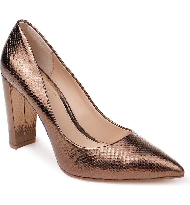 JEWEL BADGLEY MISCHKA Rumor Pump, Main, color, BRONZE SNAKE PRINT