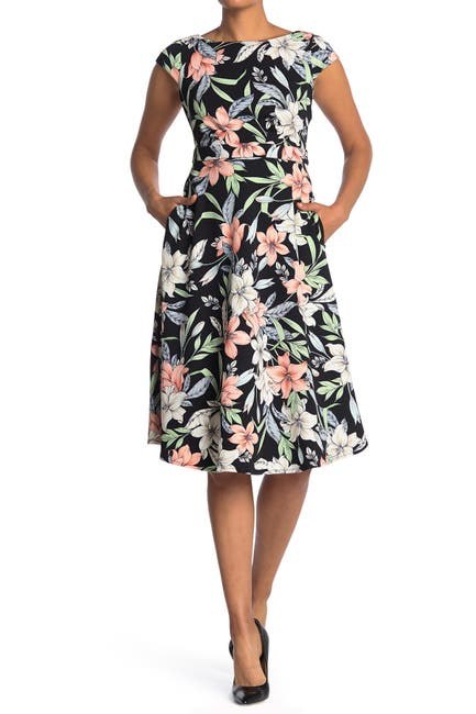 Image of Maggy London Fit And Flare Open Back Dress