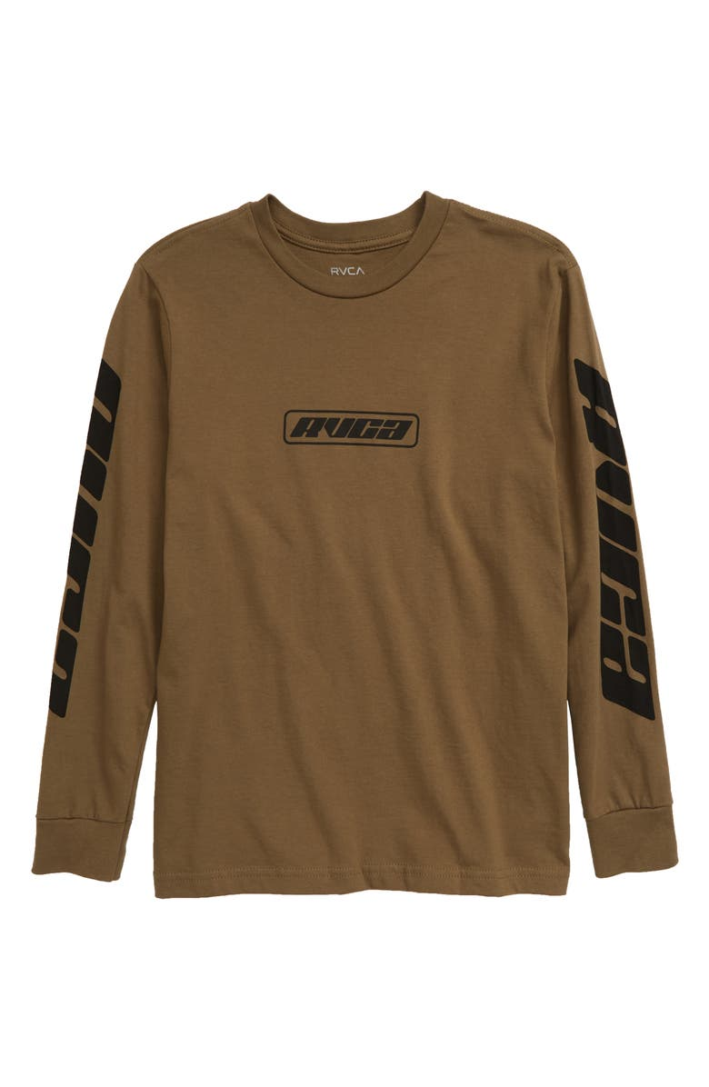 RVCA Warehouse Graphic T-Shirt, Main, color, CADET GREEN