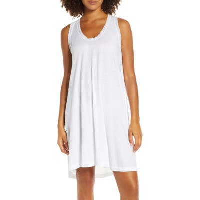The Great. The Lace Short Sleep Dress, (fits like 0-2 US) - White