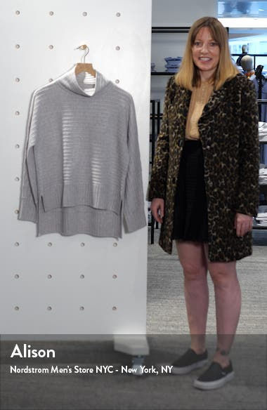 Texture Stripe Turtleneck Cashmere Sweater, sales video thumbnail