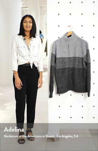 Vienna Regular Fit Colorblock Zip Sweater, sales video thumbnail