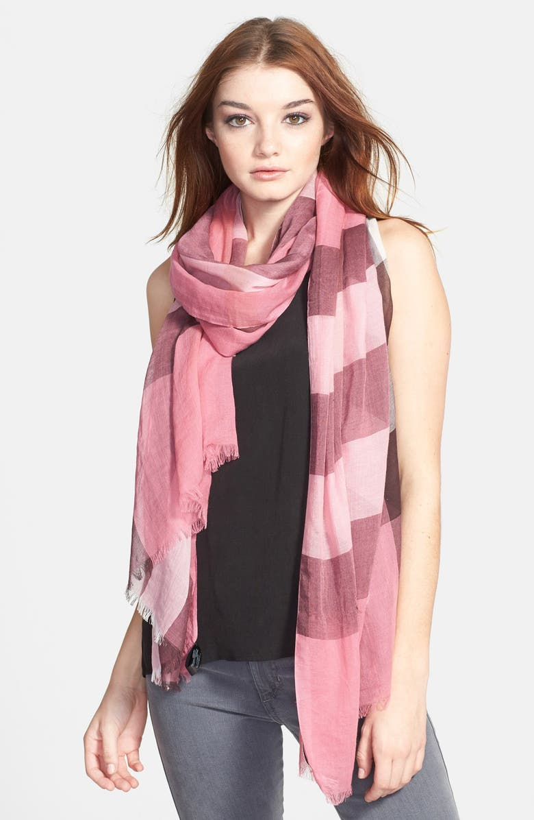 BURBERRY Brit Sheer Mega Check Scarf, Main, color, 650