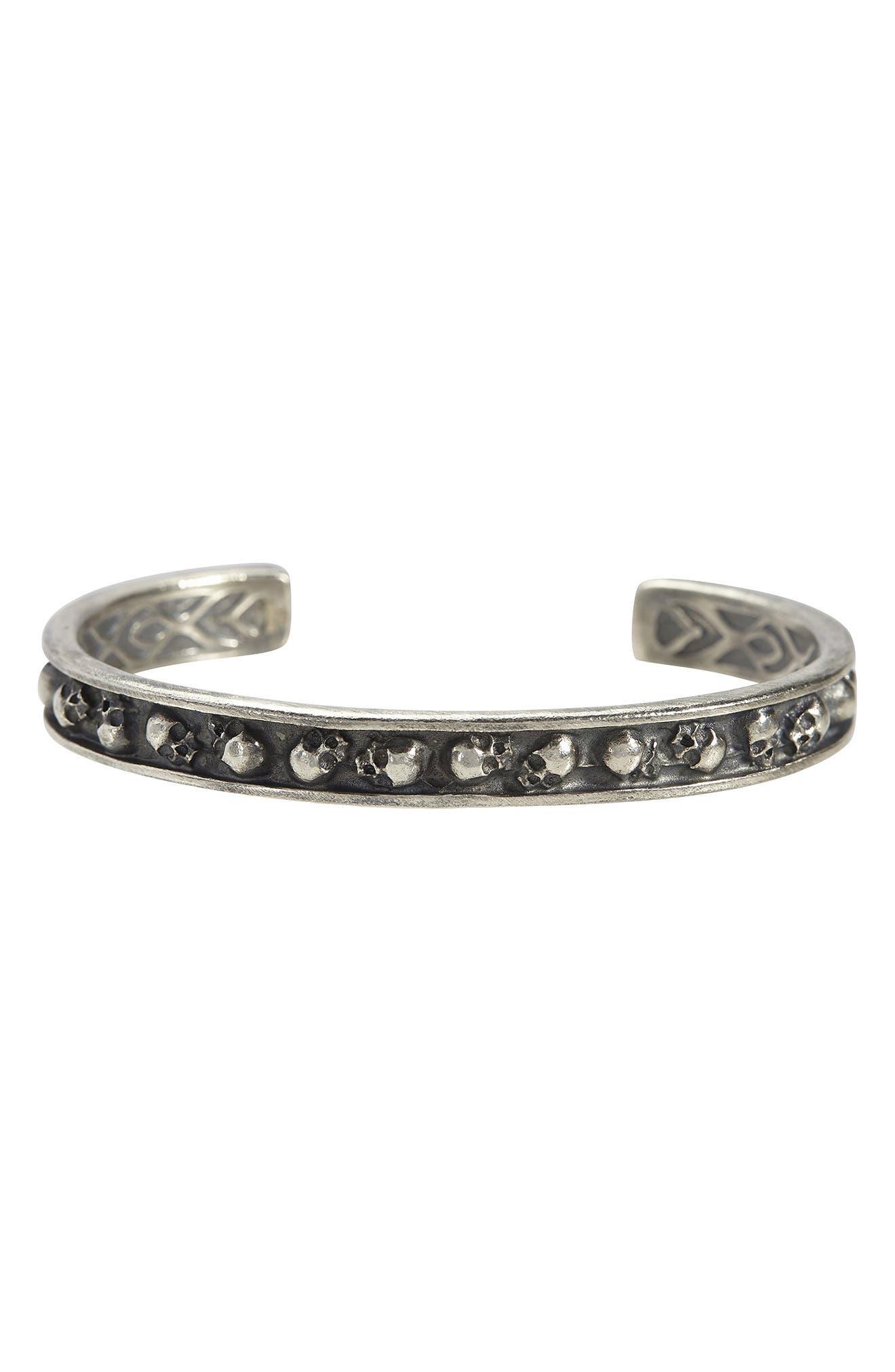 Women's John Varvatos Skull Sterling Silver Cuff Bracelet