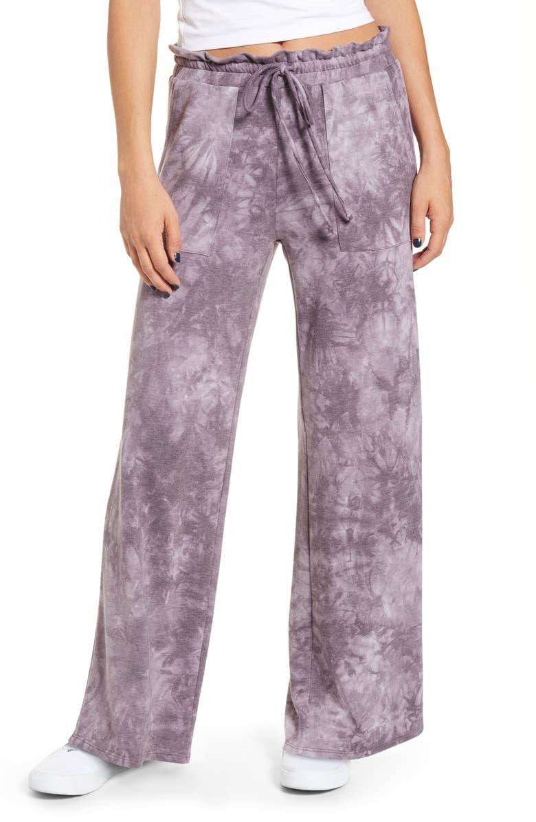 KIRIOUS Tye Dye Wide Leg Pants, Main, color, 500