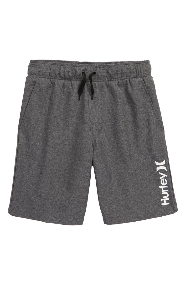 HURLEY Stretch Hybrid Shorts, Main, color, BLACK